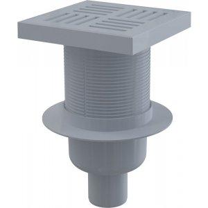 Alcaplast Podlahová vpusť 150 × 150/50 priama, mriežka šedá, vodnázápachová uzávera APV6211