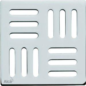 Alcaplast Designová mriežka 102 × 102 × 5 mosadz-chróm MPV001