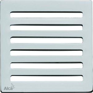 Alcaplast Designová mriežka 102 × 102 × 5 mosadz-chróm MPV003