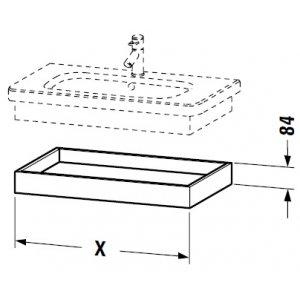 DURAVIT DuraStyle Závesná polica pre umývadlo rôzne rozmery a prevedenia