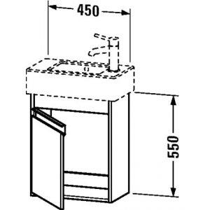 DURAVIT Ketho Závesná skrinka pod umývadlo 450 x 550 x 225 mm, rôzne prevedenia