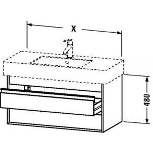 DURAVIT Ketho Závesná skrinka pod umývadlo rôzne rozmery a prevedenie