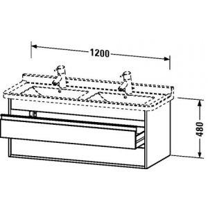 DURAVIT Ketho Závesná skrinka pod umývadlo 1200x480x465 mm, rôzne vyhotovenia