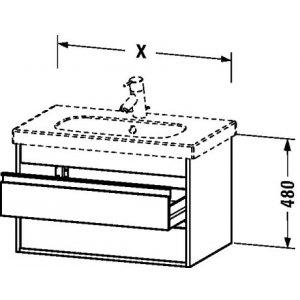 DURAVIT Ketho Závesná skrinka pod umývadlo rôzne vyhotovenie