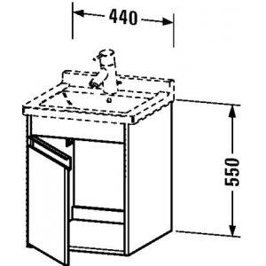 DURAVIT Ketho Závesná skrinka pod umývadlo 440x550x455 mm, rôzne prevedenia