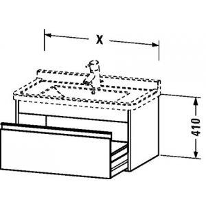 DURAVIT Ketho Závesná skrinka pod umývadlo rôzne rozmery a vyhotovenie