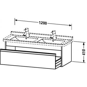 DURAVIT Ketho Závesná skrinka pod umývadlo 1200x410x465 mm, rôzne prevedenia