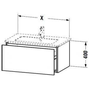 DURAVIT L-Cube Skrinka pod umývadlo závesná rôzne rozmery