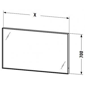 DURAVIT L-Cube Zrkadlo s osvetlením rôzne rozmery