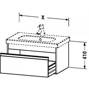 DURAVIT Ketho Závesná skrinka pod umývadlo rôzne rozmerové vyhotovenia