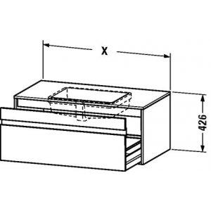 DURAVIT Ketho Závesná skrinka pod umývadlo rôzne rozmery a prevedenia