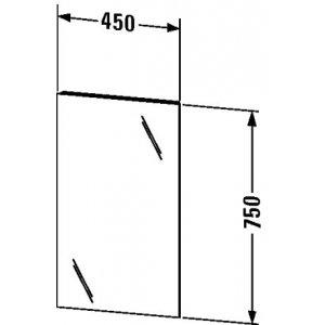 DURAVIT Ketho Zrkadlo 450x750x41 mm KT722900000