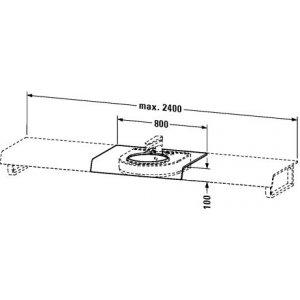 DURAVIT onto DS828C0 Variabilní deska 800-2000x100x550 mm, různá provedení