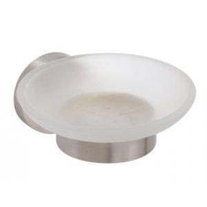 Bemeta NEO Mydelnička sklenená 110x55x125 mm, nerez 104108045