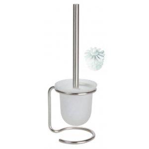Bemeta NEO WC kefa na postavenie, miska sklo 110x400x130 mm, nerez, rôzne farby