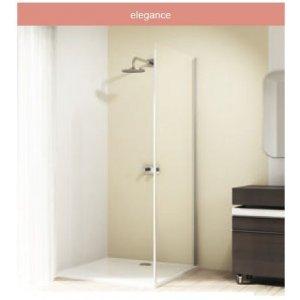HÜPPE Design elegance 4-úhelník Boční stěna pro posuvné dveře 1-dílné s pevným segmentem různé typy