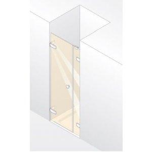 Huppe Enjoy pure Krídlové dvere s protisegmentom do niky rôzne typy