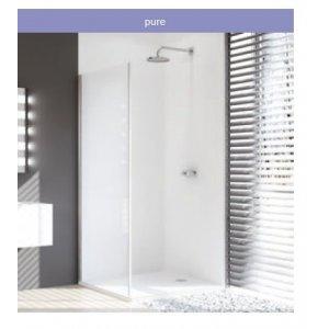Huppe Design pure Bočná stena pre posuvné dvere 1-dielne s pevným segmentom rôzne typy
