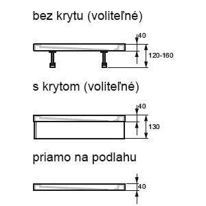 Hüppe Puran 5-úhelník Kryt pro sprchovou vaničku bílá