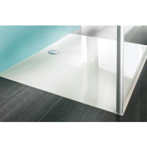 Hüppe EasyStep 4-úhelník Sprchová vanička bílá