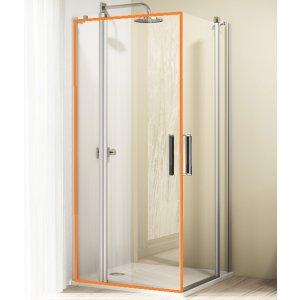HÜPPE Design elegance 4-úhelník Křídlové dveře s pevným segmentem různé typy