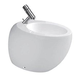 Laufen Il Bagno Alessi One 8.3297.1.400.304.1 Stojící bidet 390x585x415 mm, keramika, bílá (H8329714003041)