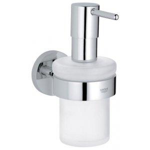 Grohe Essentials chrom 40448001 Dávkovač tekutého mýdla s držákem
