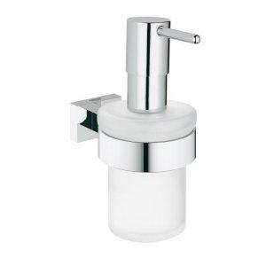 Grohe Essentials Cube chrom 40756001 Dávkovač tekutého mýdla s držákem