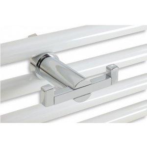 Novaservis Metalia Dvojháčik na otopný rebrík 90x68mm,chróm 6256/1.0