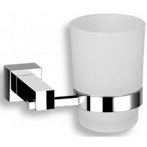Novaservis Titania - Anet Držiak zubných kefiek a pasty sklo 120x100x95mm, chróm 66306.0