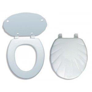 Novaservis WC dosky - Prestige Mušľa lyra tvarované drevo WC/MUSLELYRA