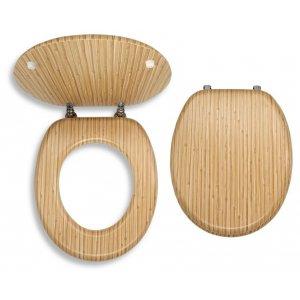 Novaservis WC dosky - Prestige Bambus dyhované drevo WC/BAMBUS