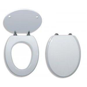 Novaservis WC dosky - Prestige Biela tvarované drevo WC/BILA