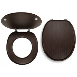 Novaservis WC dosky - Prestige Wenge dyhované drevo WC/WENGE