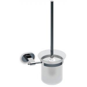 Ravak Chrome Držiak s nádobkou a WC kefkou lesklý chróm, matné sklo CR 410.00 X07P196