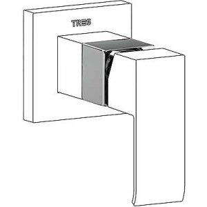 Tres Cuadro Nástavec pre jednopákový zabudovaný systém sprchy 1.06.177.10 (10617710)