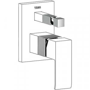 Tres Cuadro Nástavec pre jednopákový zabudovaný systém vane / sprchy 1.06.180.10 (10618010)