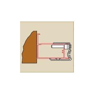 SanSwiss SWING line ACSL2 Profil k rozšíreniu dverí na strane pántov ku stene kúpeľne o 25 mm rôzne prevedenia