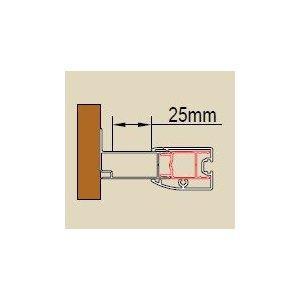 SanSwiss ECO line ACT1 Stohovací profil k rozšíreniu dverí alebo b. steny ku stene kúpeľne o 25 mm rôzne rozmery a prevedenia