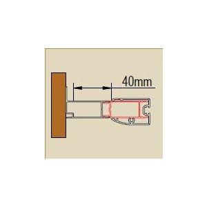 SanSwiss ECO line ACT2 Stohovací profil k rozšíreniu dverí alebo b. steny ku stene kúpeľne o 40 mm rôzne rozmery a prevedenia