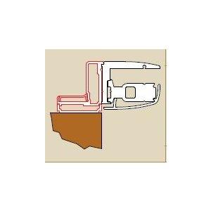 SanSwiss PUR EP1.50  Aluchrómový L-profil (50263) k upevneniu dverí alebo bočnej steny v 90° uhle rôzne rozmery