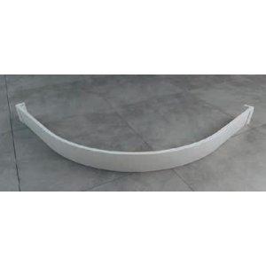 SanSwiss ILA PWIR55 Hliníkový přední panel pro čtvrtkruhovou vaničku různé rozměry a provedení