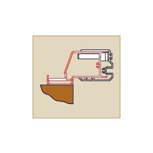 SanSwiss SWING line SESL1 Profil k upevneniu dverí na strane držadla alebo bočnej steny ku stene kúpeľne v 90° uhle rôzne rozmery a prevedenia