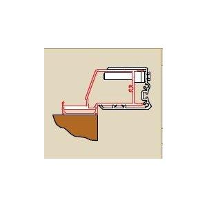 SanSwiss SWING line SESL2 Profil k upevneniu dverí na strane pántov ku stene kúpeľne v 90° uhle rôzne rozmery a prevedenia