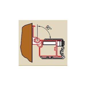 SanSwiss SWING line WGSL2 Profil k upevneniu dverí na strane pántov ku stene kúpeľne v uhle 0° až 90° rôzne prevedenia