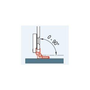 SanSwiss PUR WPB1.50 Sada 2 profilov k upevneniu bočnej steny s L-kovaním pod uhlom 0° až 90°
