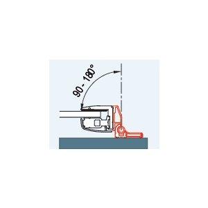 SanSwiss PUR WPF2.50 Sada 2 profilov k upevneniu bočnej steny pod uhlom 90° až 180°