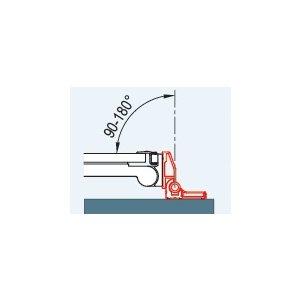 SanSwiss PUR WPT2.50 Sada 2 profilov k upevneniu dverí pod uhlom 90° až 180°