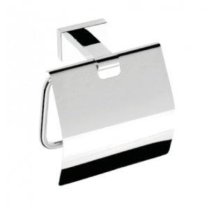 Bemeta PLAZA Držiak toaletného papiera s krytom 125x125x65 mm, chróm 118112012