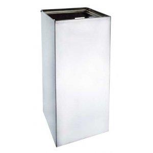 Bemeta Odpadkový kôš hranatý 250x250x500 mm, nerez, 25 l